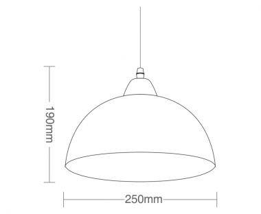 Luminária Pendente Taschibra TD 3011