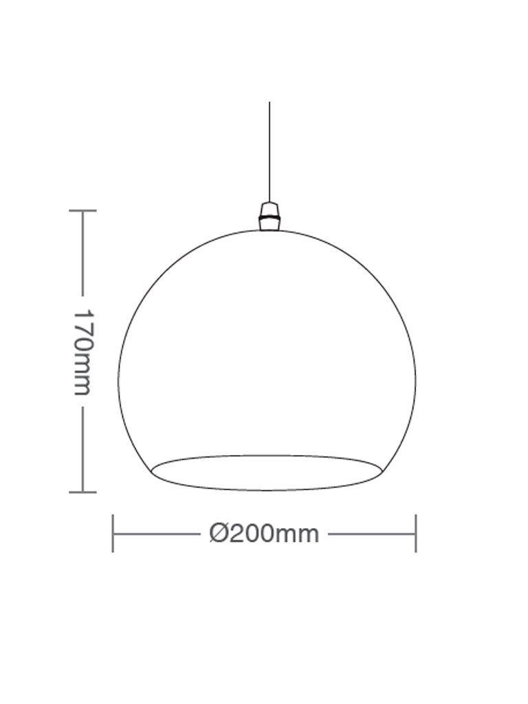 Luminária Pendente Taschibra TD 3012