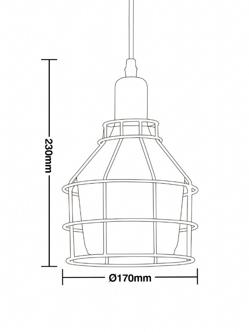 Luminária Pendente Vidro Taschibra Modelo Aro 160