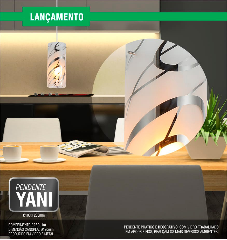 Luminária Pendente Yani Taschibra 1xE27