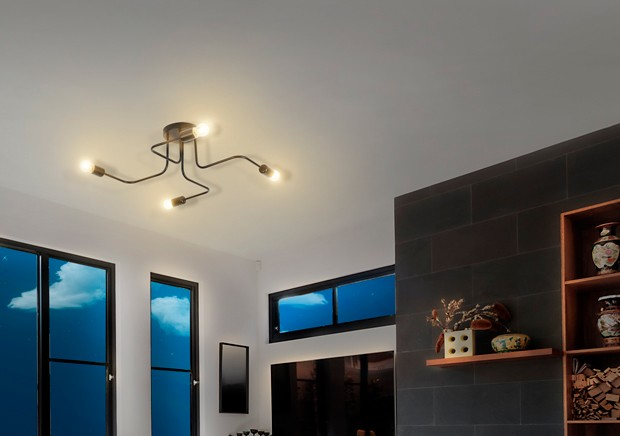 Luminária Plafon Cronos Taschibra 4xE27