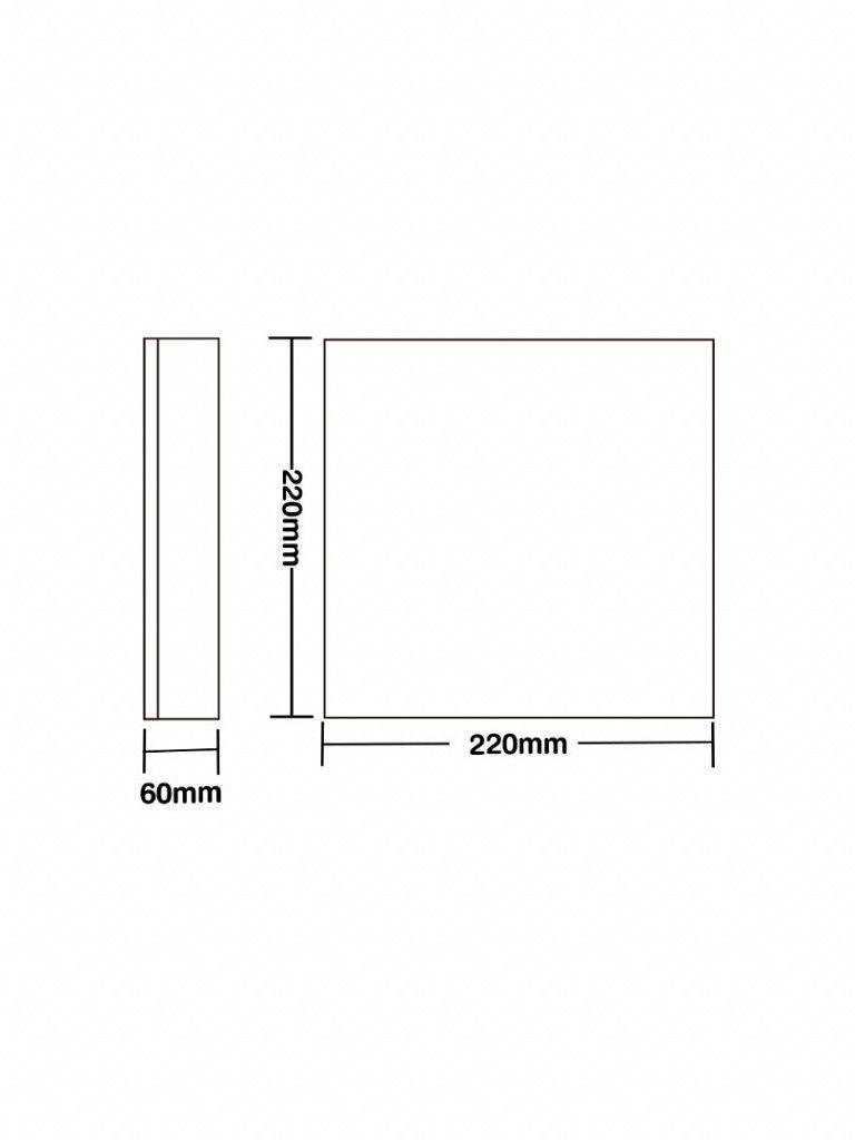 Luminária Plafon Taschibra Modelo Clear - Led 6500k