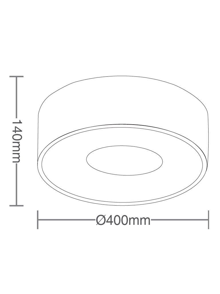 Luminária Plafon Taschibra Modelo Donuts - 4xE27