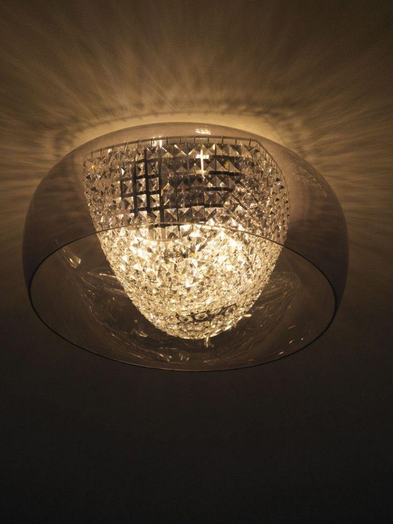 Luminária Plafon Taschibra Modelo Giulia Cristal - 3xE27