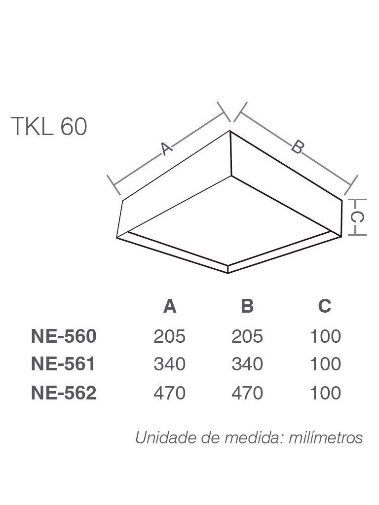 Luminária Plafon Taschibra - Modelo Nadir Evolution - 2-4xE27
