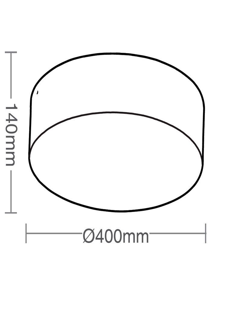 Luminária Plafon Taschibra Modelo Ring 4xE27