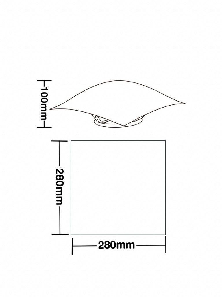 Luminária Plafon Taschibra Modelo Solari - Quadrado - Com led