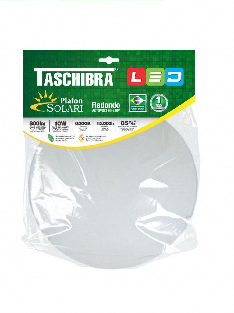 Luminária Plafon Taschibra Modelo Solari Redondo - 1xE27
