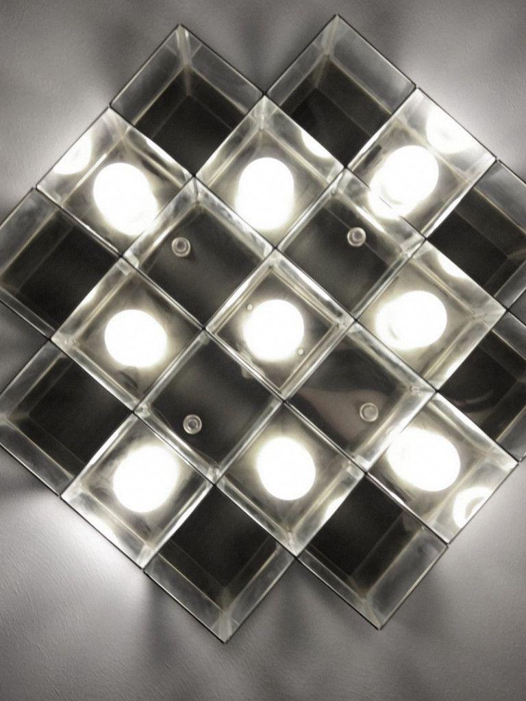Luminária Plafon Taschibra Modelo Versus Cruzado - 9xE27