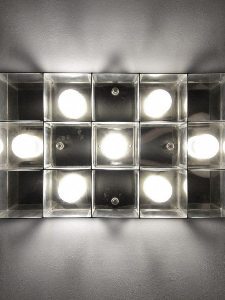 Luminária Plafon Taschibra Modelo Versus Retangular - 7xE27