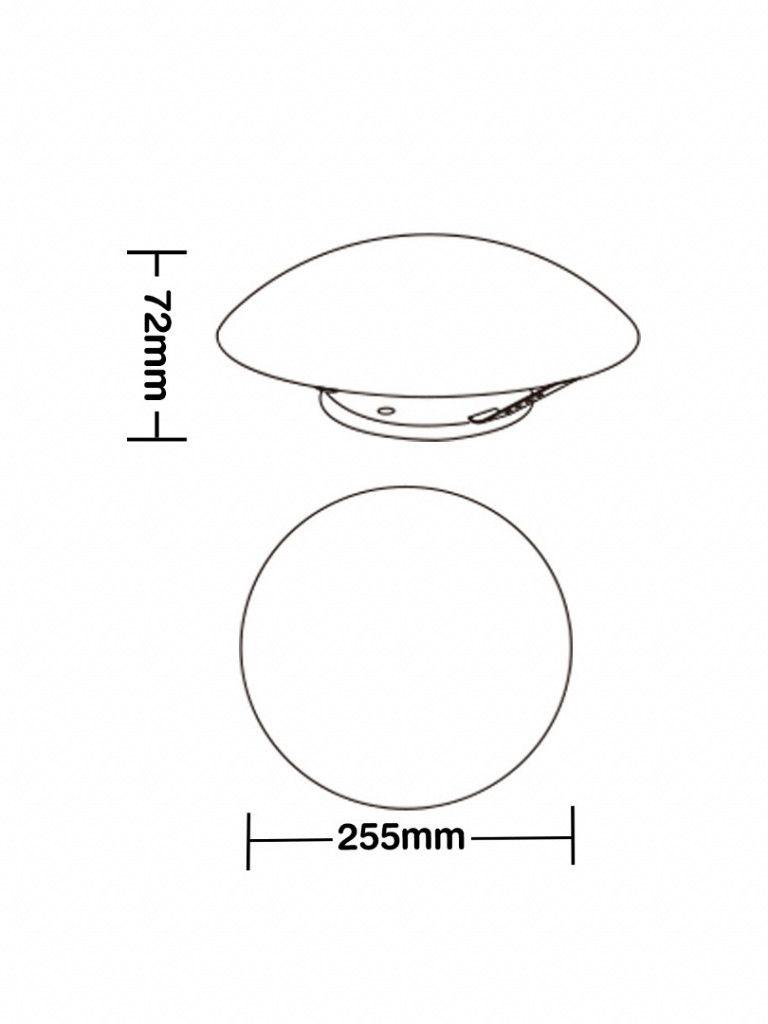Luminaria Taschibra Modelo Solari Redondo - com led