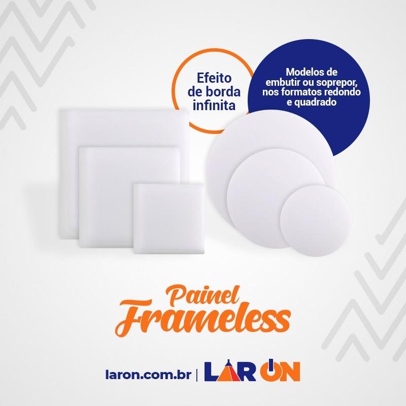 Painel Frameless 17W Led Taschibra Sobrepor ou Embutir Quadrado -  120x16mm