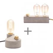 Kit 2 Luminárias de Mesa Abajur uma Zolt + uma Dupple Promoção Combo