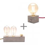 Kit 2 Luminárias de Mesa Abajur Dupple + Dado Promoção