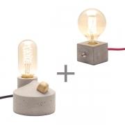 Kit 2 Luminárias de Mesa Abajur Zolt + Luminária Dado Promoção