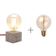 Kit Luminária de Mesa Dado Abajur com Lâmpada G95 Promoção