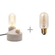 Kit Luminária de Mesa com Dimmer e Lâmpada T45 Filamento de Carbono