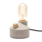 Luminária de Mesa Com Dimer Cabo Preto e Plugue de Cimento Zolt