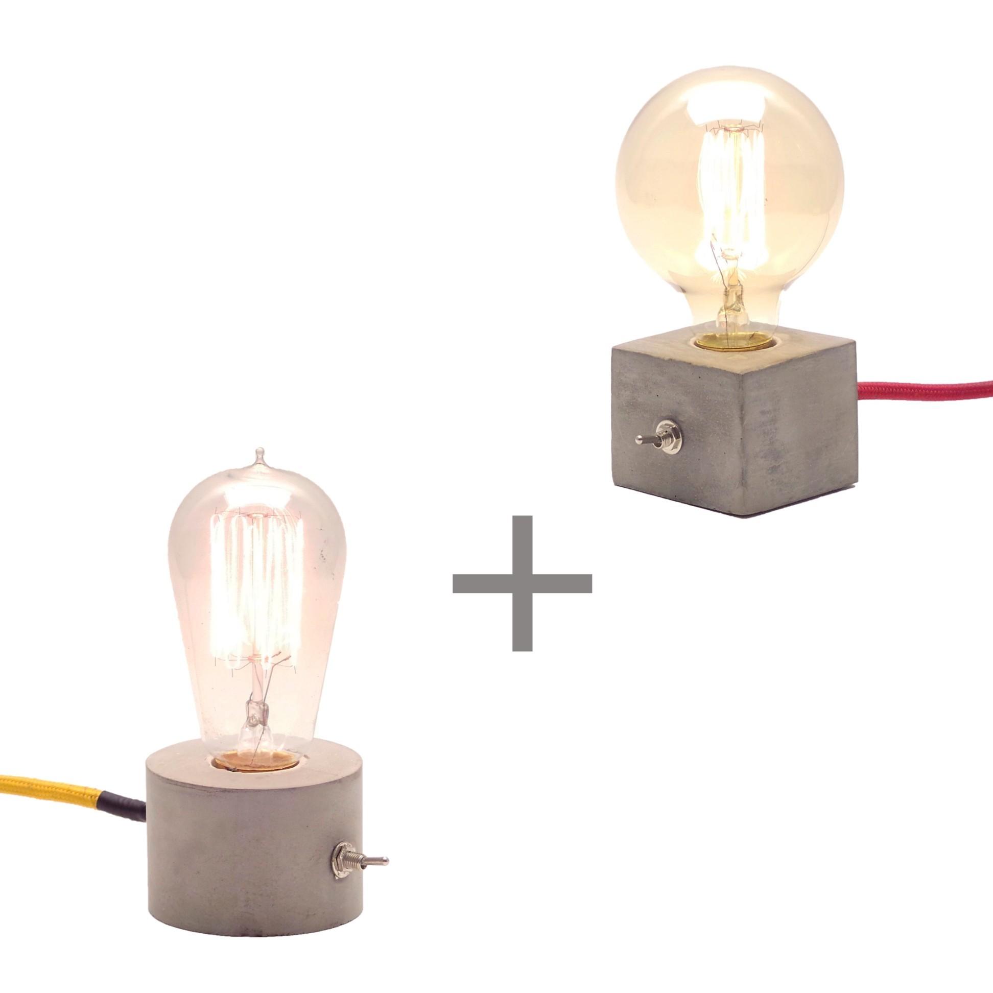 Combo duas Luminárias de Mesa Abajur Dado + Luminária Roda Promoção  - ZOLT luminárias