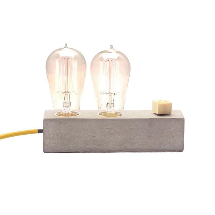 Combo duas Luminárias de Mesa Abajur Dupple + Dado Promoção  - ZOLT luminárias