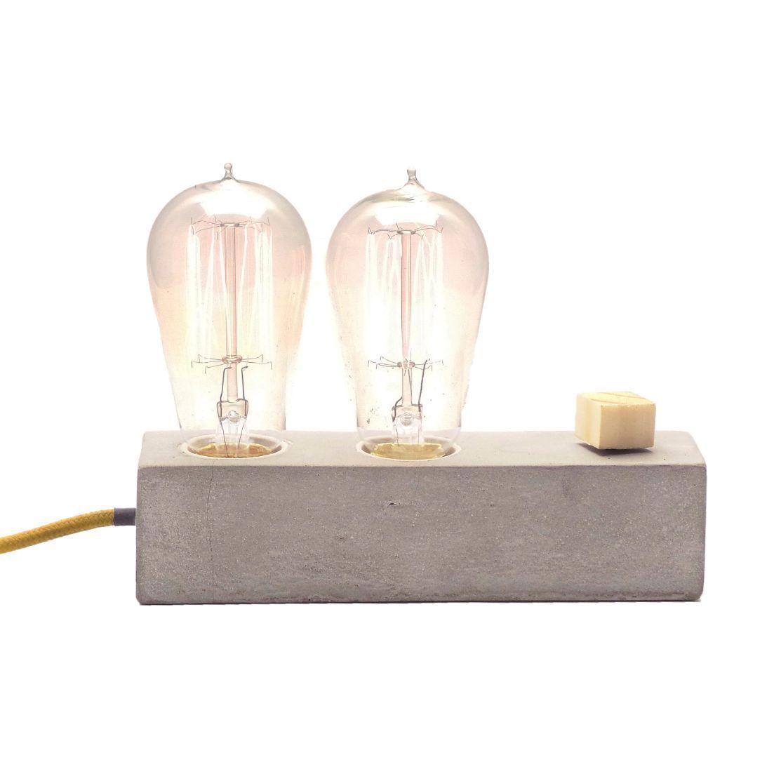 Combo duas Luminárias de Mesa Abajur Zolt + Luminária Dupple Promoção  - ZOLT luminárias