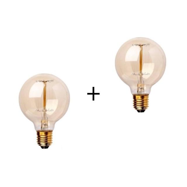 Combo Duas Lâmpadas G95 Filamento de Carbono 40w e-27  - ZOLT luminárias