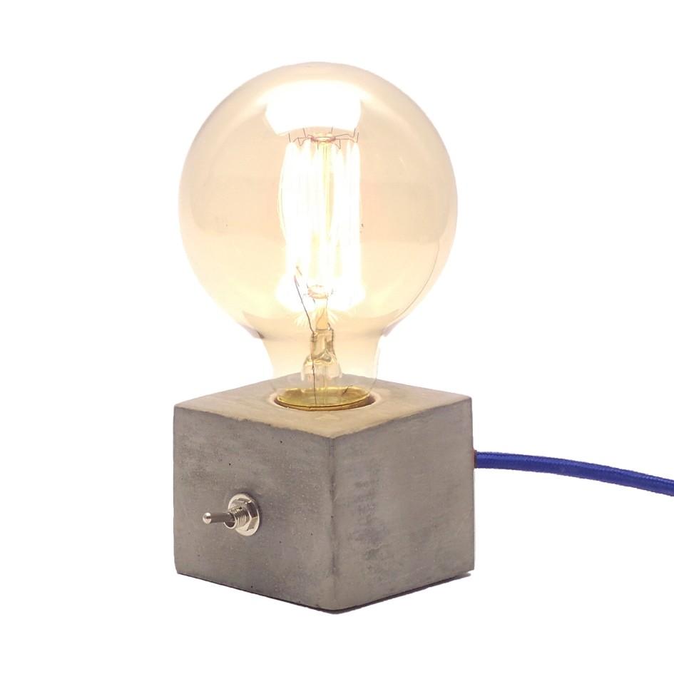 Kit 2 Luminárias de Mesa Abajur Dado com Cabo de Tecido Promoção  - ZOLT luminárias