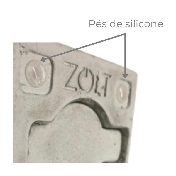 Kit 2 Luminárias Quadradas de Cimento com Cabo de Tecido Dado Abajur  - ZOLT luminárias