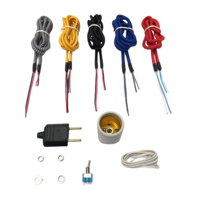 Kit completo Faça Você Mesmo sua Luminária de Mesa Abajur com botão  - ZOLT luminárias