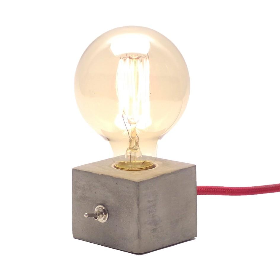 Kit Luminária de Mesa Dado Abajur com Lâmpada G95 Promoção  - ZOLT luminárias