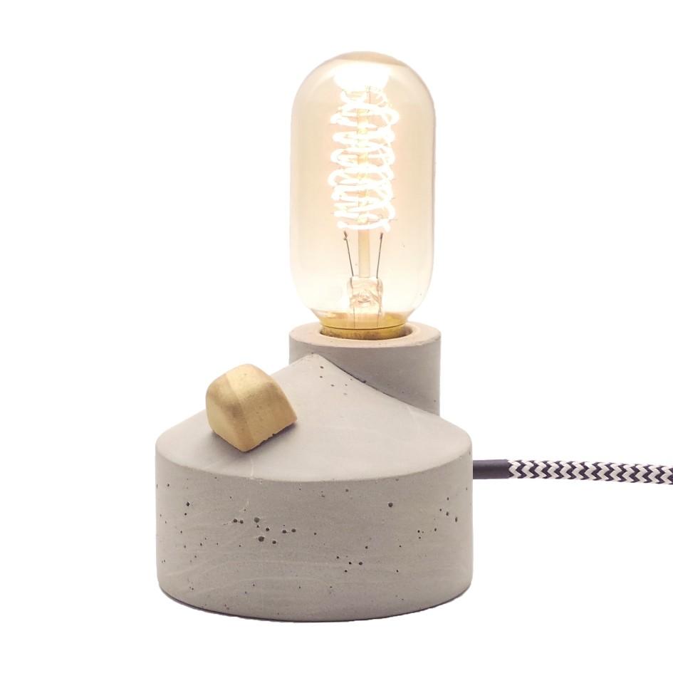 Kit Luminária de Mesa com Dimmer e Lâmpada T45 Filamento de Carbono  - ZOLT luminárias