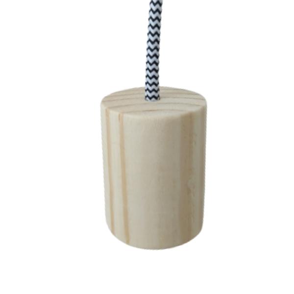 Kit Lustre Pendente Redondo de Madeira com Lâmpada de Filamento G95  - ZOLT luminárias