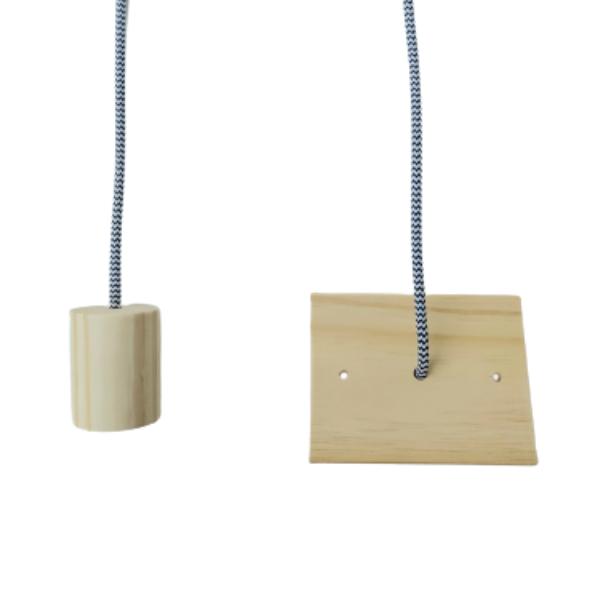 Kit Lustre Pendente Redondo de Madeira com Lâmpada de Filamento ST64  - ZOLT luminárias