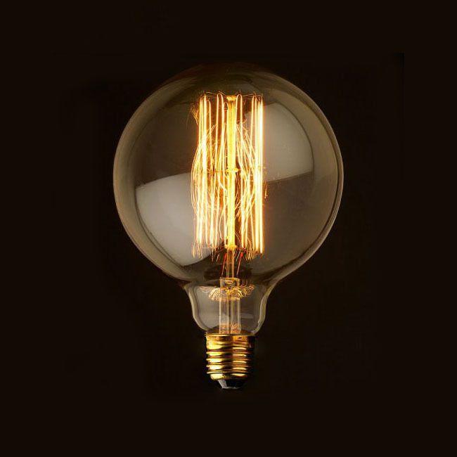 Lâmpada G95 Filamento de Carbono Dimerizável 40w e-27   - ZOLT luminárias