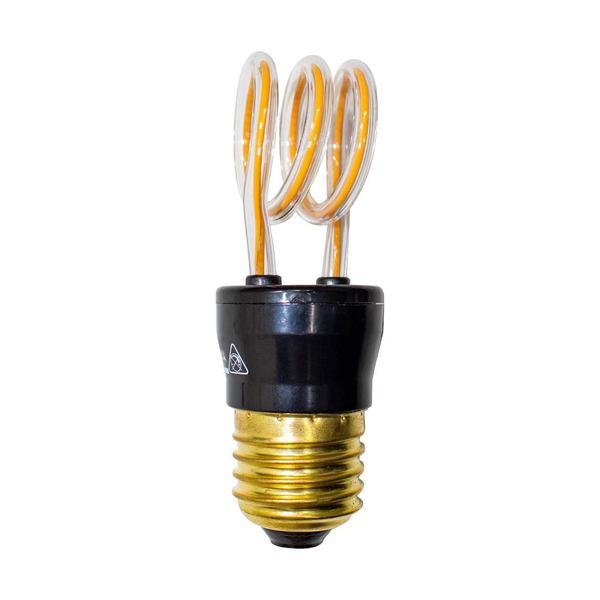 Lâmpada LED 3D Arco LED Espiral sem Vidro 4w  - ZOLT luminárias