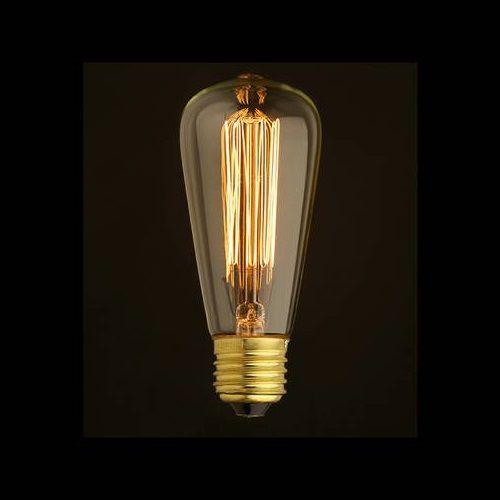 Lâmpada Dimerizável ST64 Filamento de Carbono 40w bocal e-27   - ZOLT luminárias