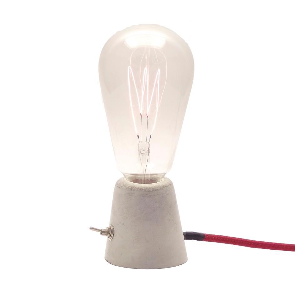 Luminária de Mesa Abajur Cone com Cabo de Tecido e Botão  - ZOLT luminárias