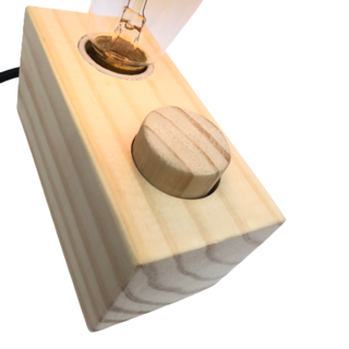 Luminária de Madeira Retangular com Dimmer, Diversas Cores de Cabos   - ZOLT luminárias