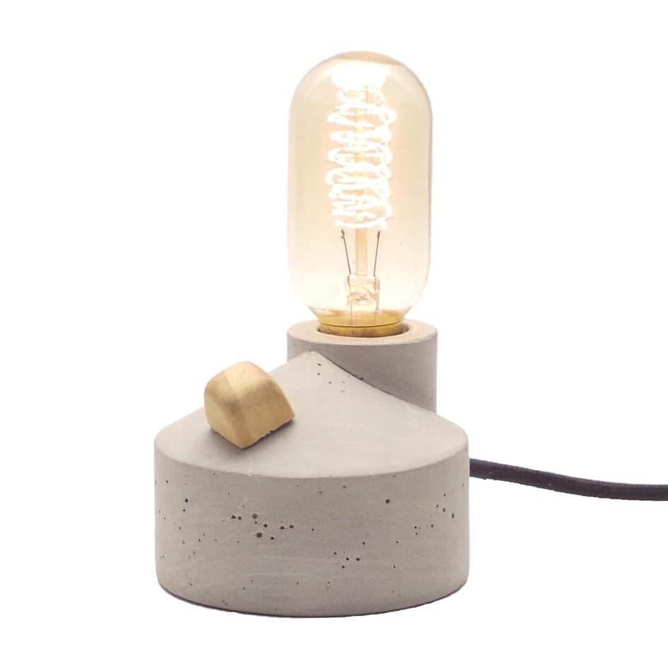 Luminária de Mesa Com Dimer Cabo Preto e Plugue de Cimento Zolt  - ZOLT luminárias