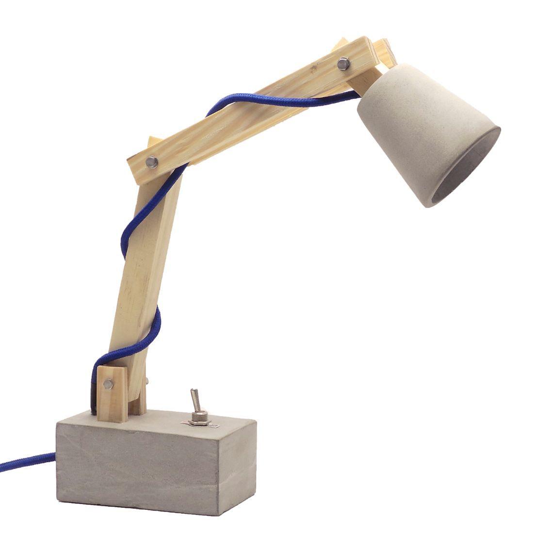 Luminária de Mesa Abajur Pix, Articulada, LED, Cabo de Tecido e Botão  - ZOLT luminárias