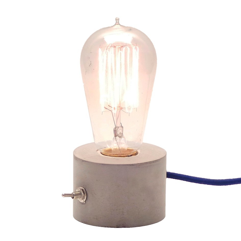 Luminária de Mesa Abajur Roda com Cabo de Tecido e Botão  - ZOLT luminárias
