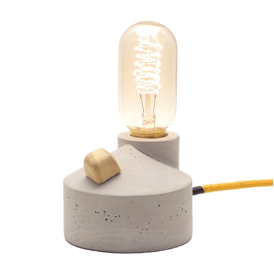 Luminária de Mesa Abajur Zolt Com Dimmer e Cabo de Tecido  - ZOLT luminárias