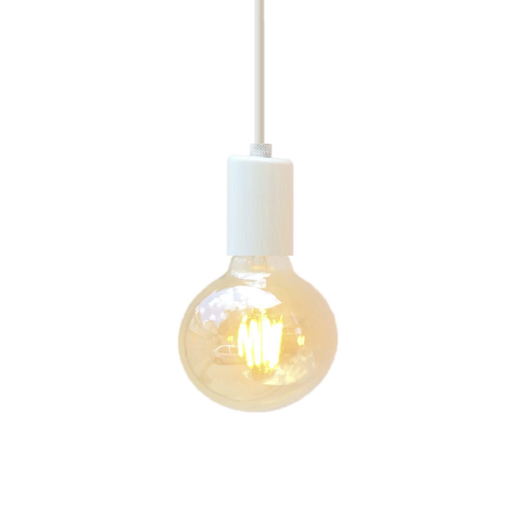 Lustre pendente metálico branco  - ZOLT luminárias