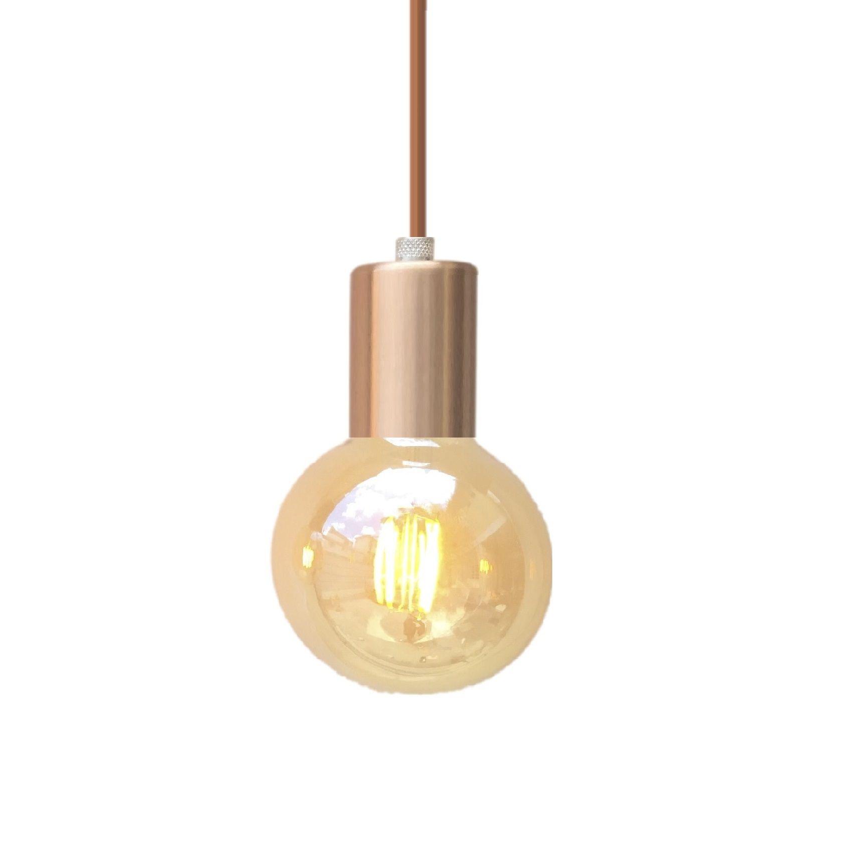 Lustre Pendente Metálico Dourado  - ZOLT luminárias