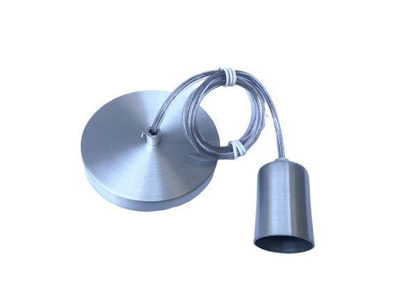 Lustre pendente metálico prata  - ZOLT luminárias