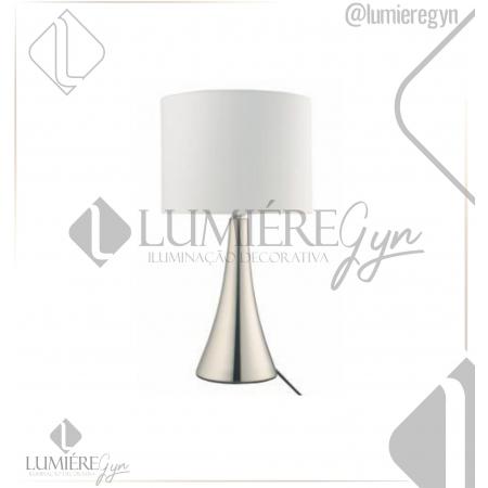 ABAJUR CASUAL LIGHT  QAB1069-BR TURRET 1L E27 40W Ø200X365MM NÍQUEL