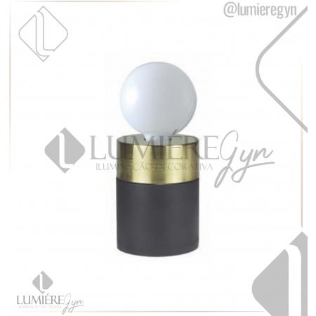 ABAJUR CASUAL LIGHT QAB1375DO TINT 1L E27 40W Ø90X120MM PRETO/DOURADO