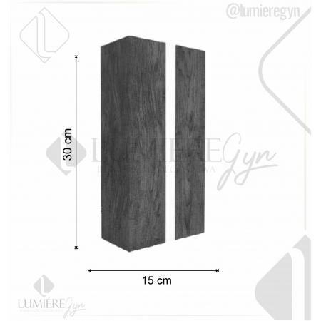 ARANDELA CLEAN DE MADEIRA 30X15cm - 2xE27 - AR15 - FOXLUSTRES