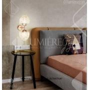 ARANDELA DE CRISTAL LAMPLUZ ESTELA DUO 2L LED 9W G9 200X150X150MM