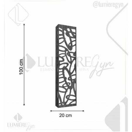 ARANDELA LASER 100X20cm - 4xE27 - AR21 - FOXLUSTRES